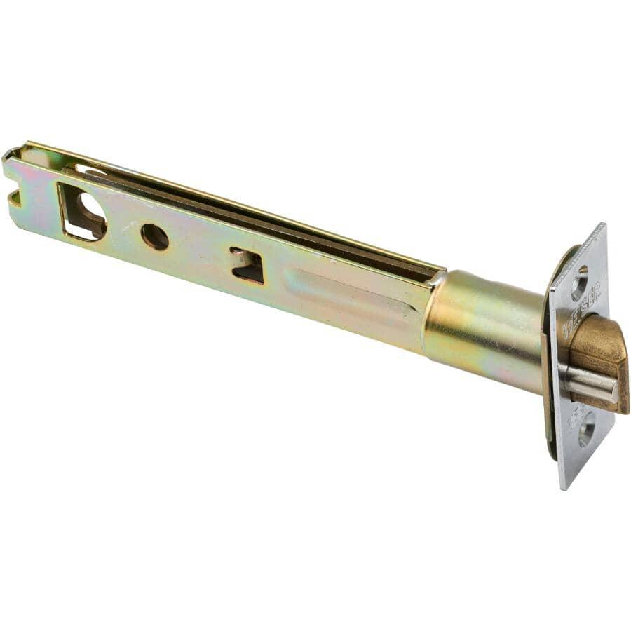 WEISER LOCK:Loquet à ressort à distance d'entrée de 5 po, chrome satiné