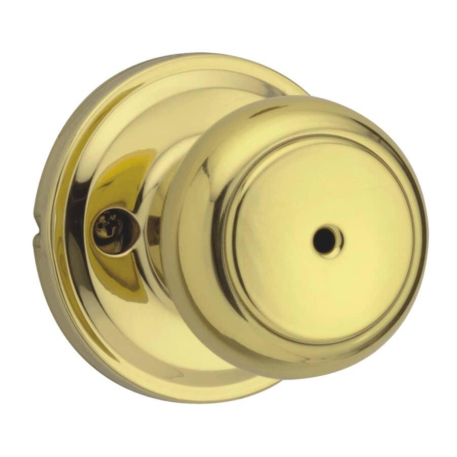 WEISER LOCK:Brass Troy Privacy Door Knobset