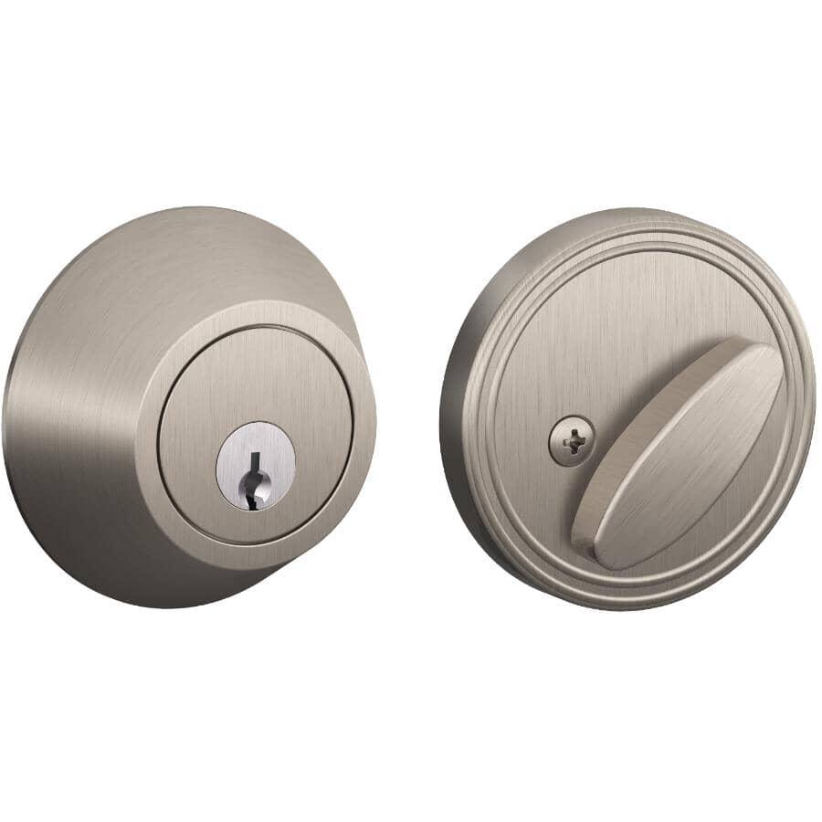 DEXTER:Satin Nickel Single Cylinder Deadbolt Lock