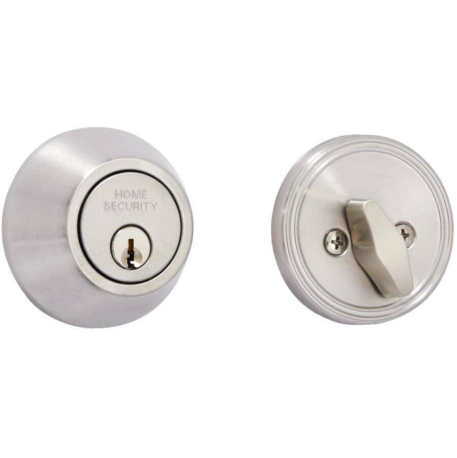 HOME SECURITY:Single Cylinder Deadbolt Lock - Satin Stainless Steel