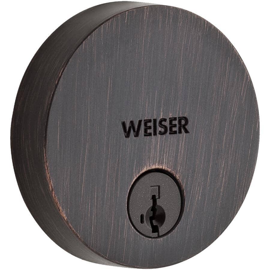 WEISER LOCK:Venetian Bronze Uptown Single Cylinder Smart Key Deadbolt Lock