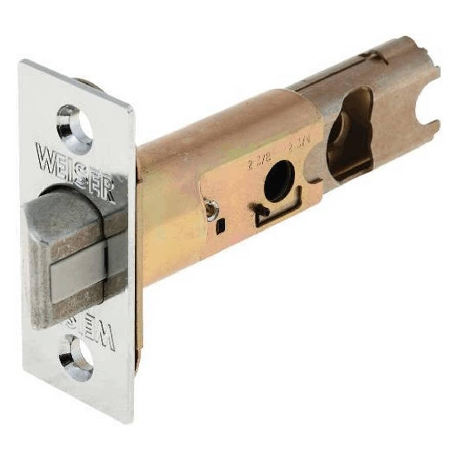 WEISER LOCK:Satin Chrome Spring Door Backset Latch