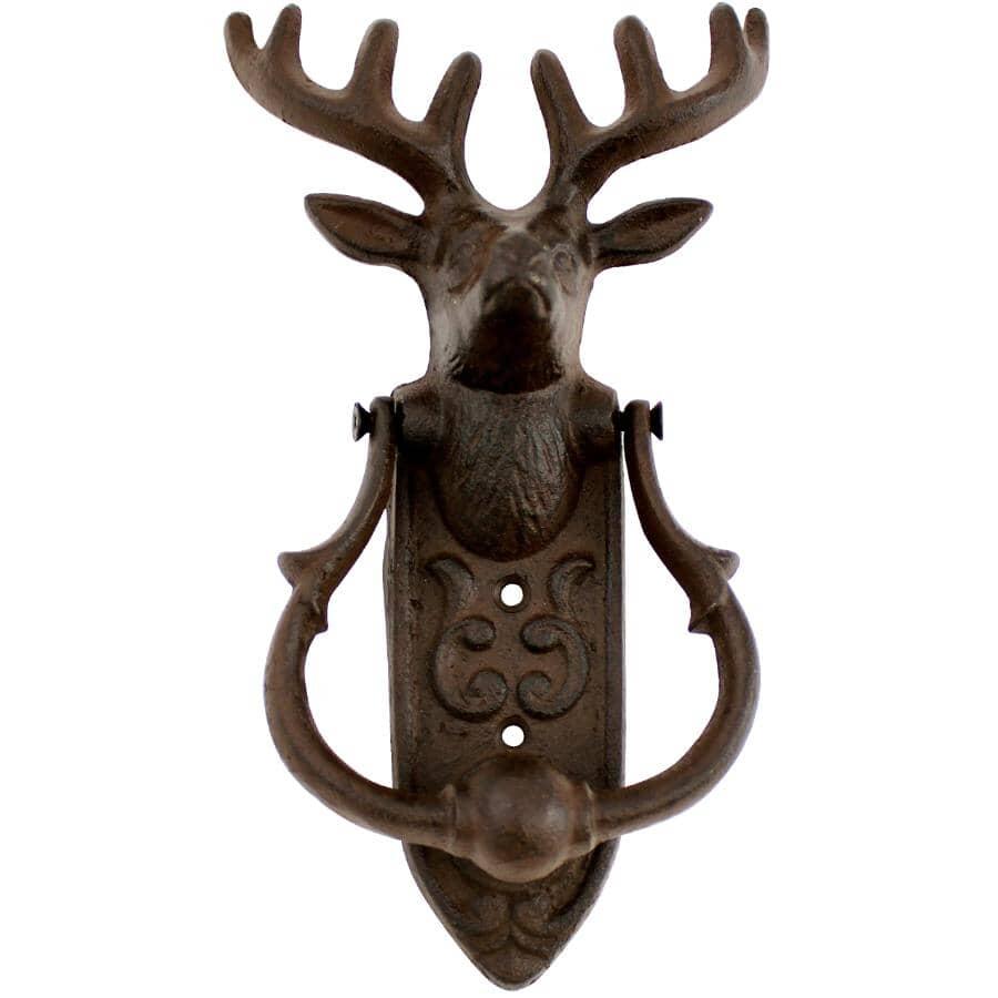 KOPPERS HOME:Cast Iron Deer Door Knocker