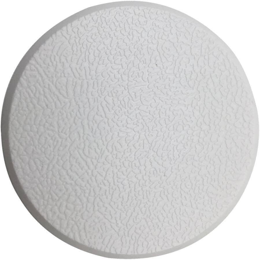 """BUILDER'S HARDWARE:2 Pack 3-1/4"""" White Textured Vinyl Door Knob Wall Protectors"""