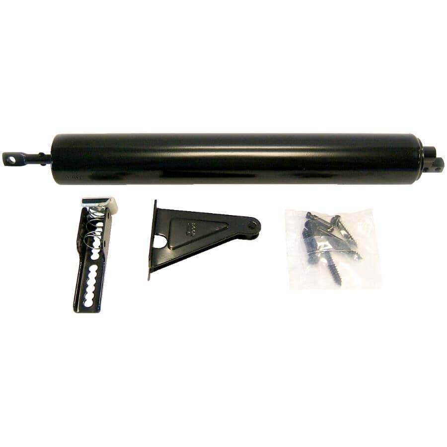 IDEAL SECURITY:Heavy Duty Black Aluminum Screen Door Closer