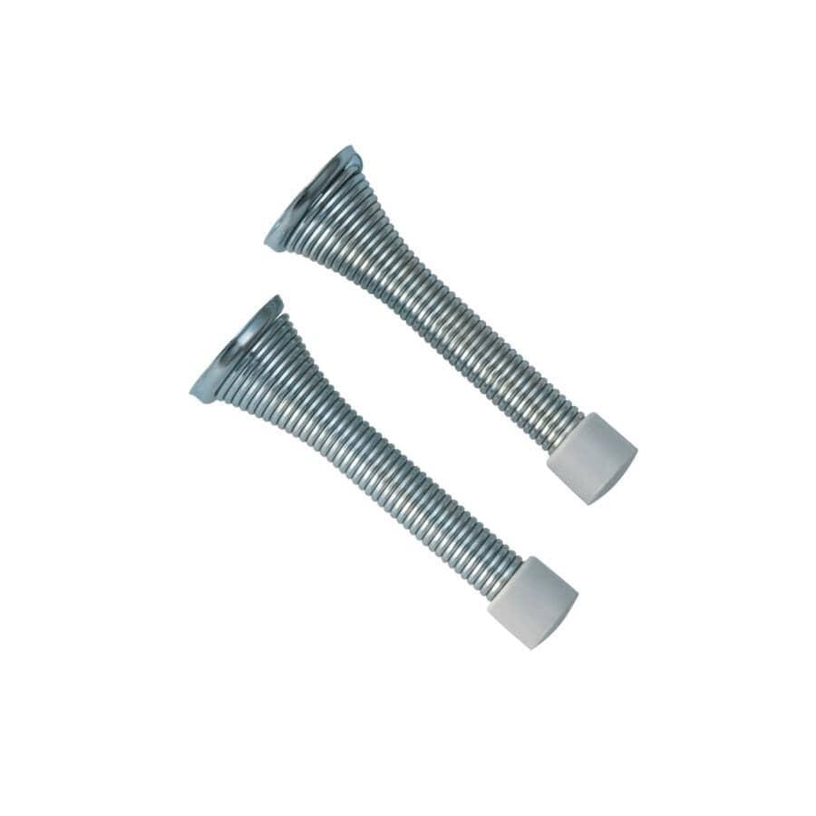 """BUILDER'S HARDWARE:2 Pack 3"""" Zinc Flexible Door Stops"""
