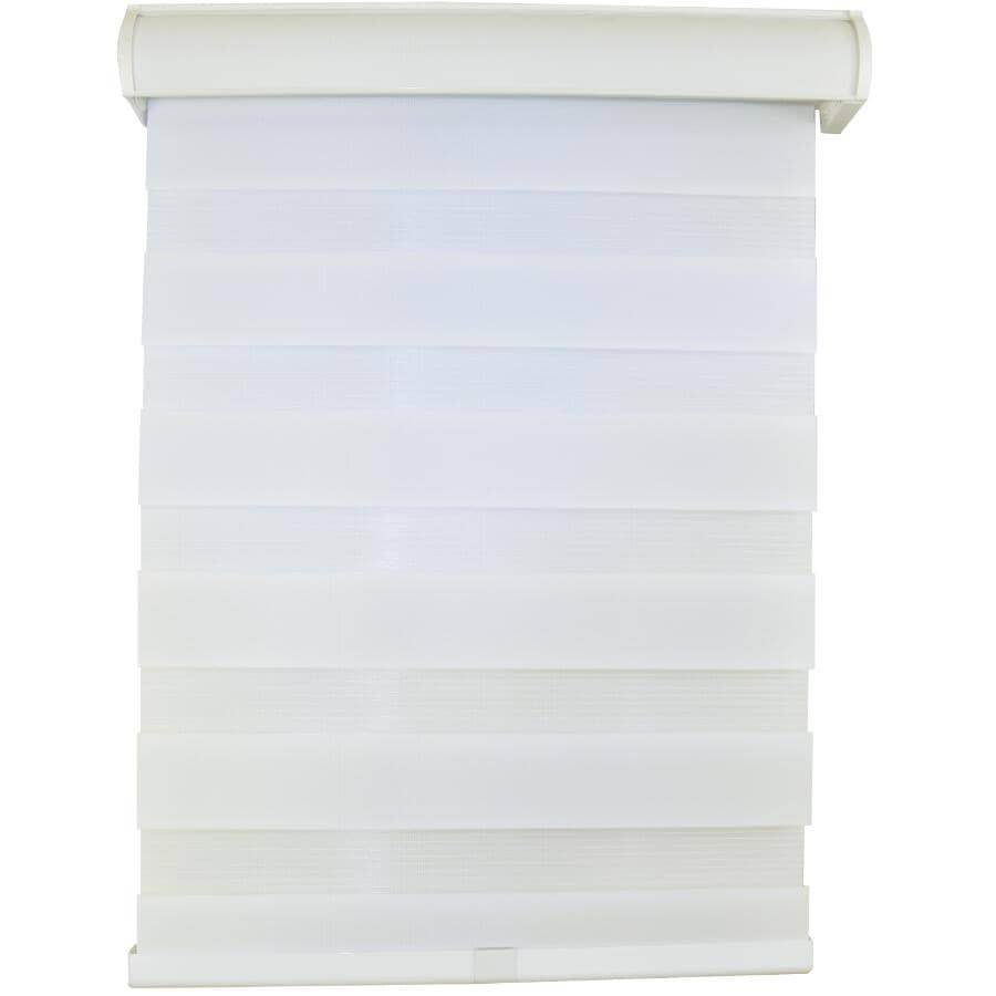 "VERSAILLES:30"" x 64"" Eggshell Cordless Fabric Window Blind"
