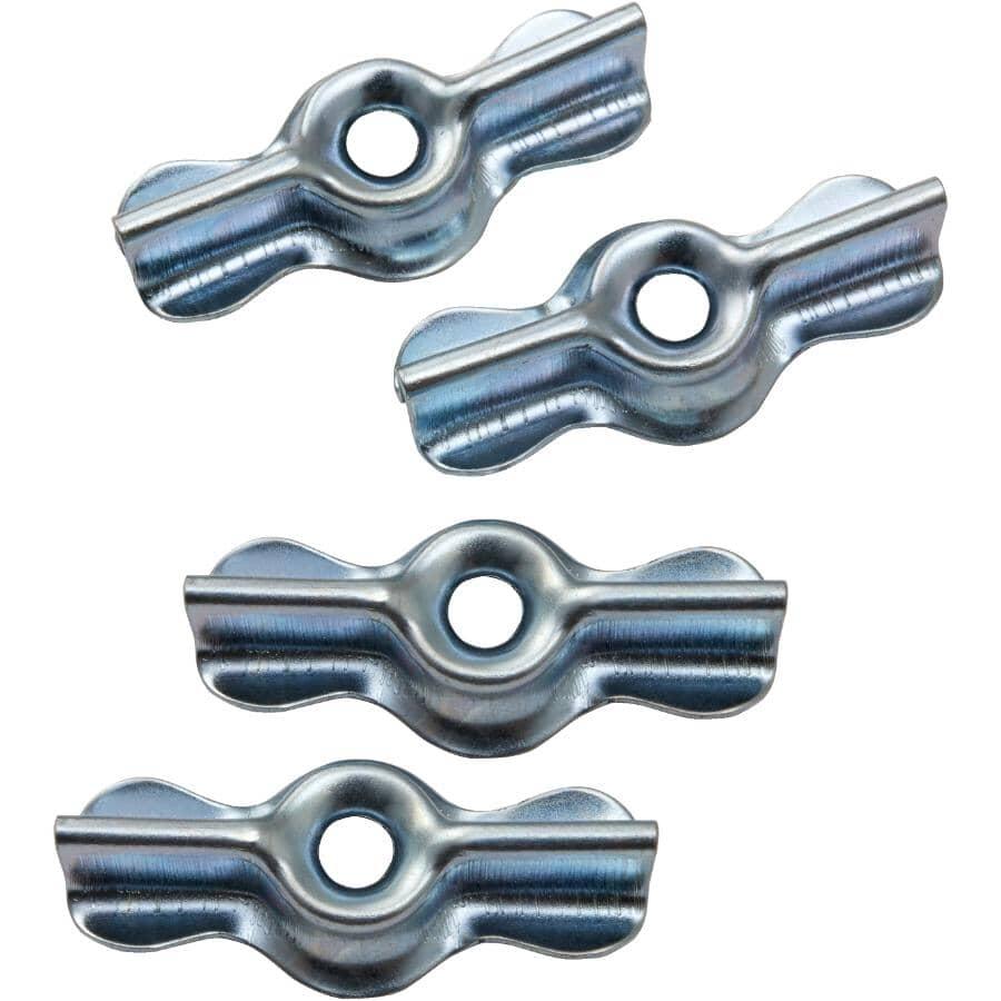 "BUILDER'S HARDWARE:4 Pack 1-3/4"" Zinc Turn Buttons"