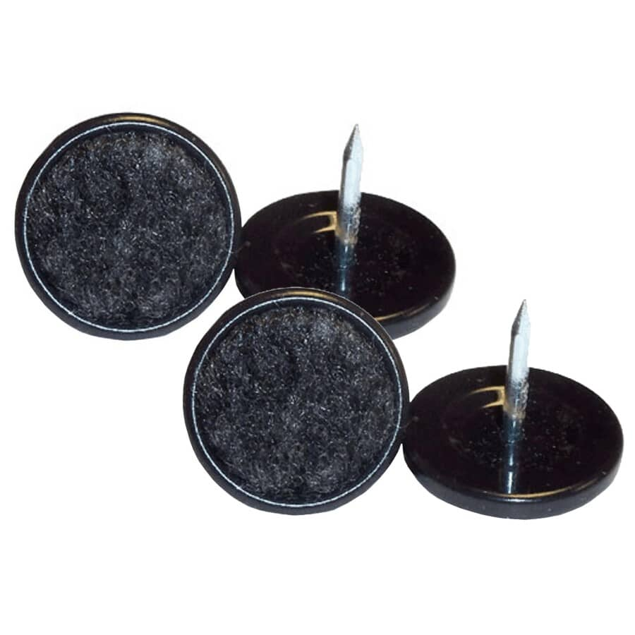 """HOME:4 Pack 1-1/2"""" Heavy Duty Nail-On Felt Glides"""