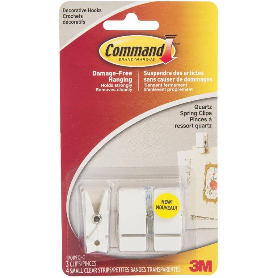 COMMAND:3 Pack Quartz Adhesive Spring Clips