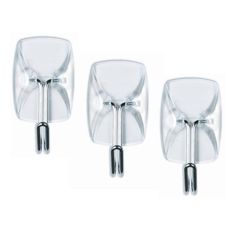COMMAND:3 Hooks Plus 4 Strips Clear Utensil Adhesive Hooks