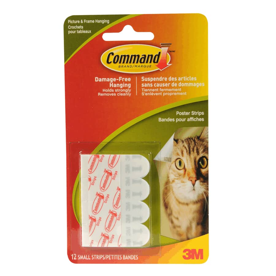 COMMAND:12 Pack Adhesive Poster Strips