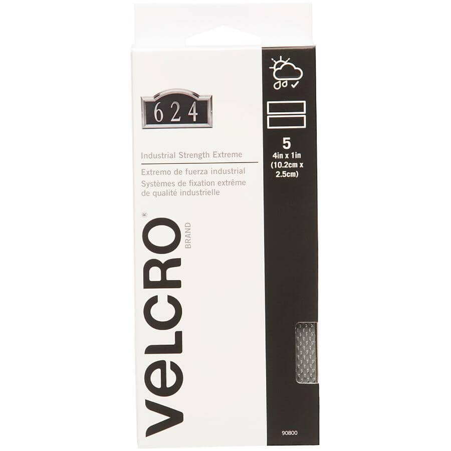 """VELCRO (R) BRAND FASTENERS:5 Pack 1"""" x 4"""" Extreme VELCRO® Brand Fasteners Tape"""