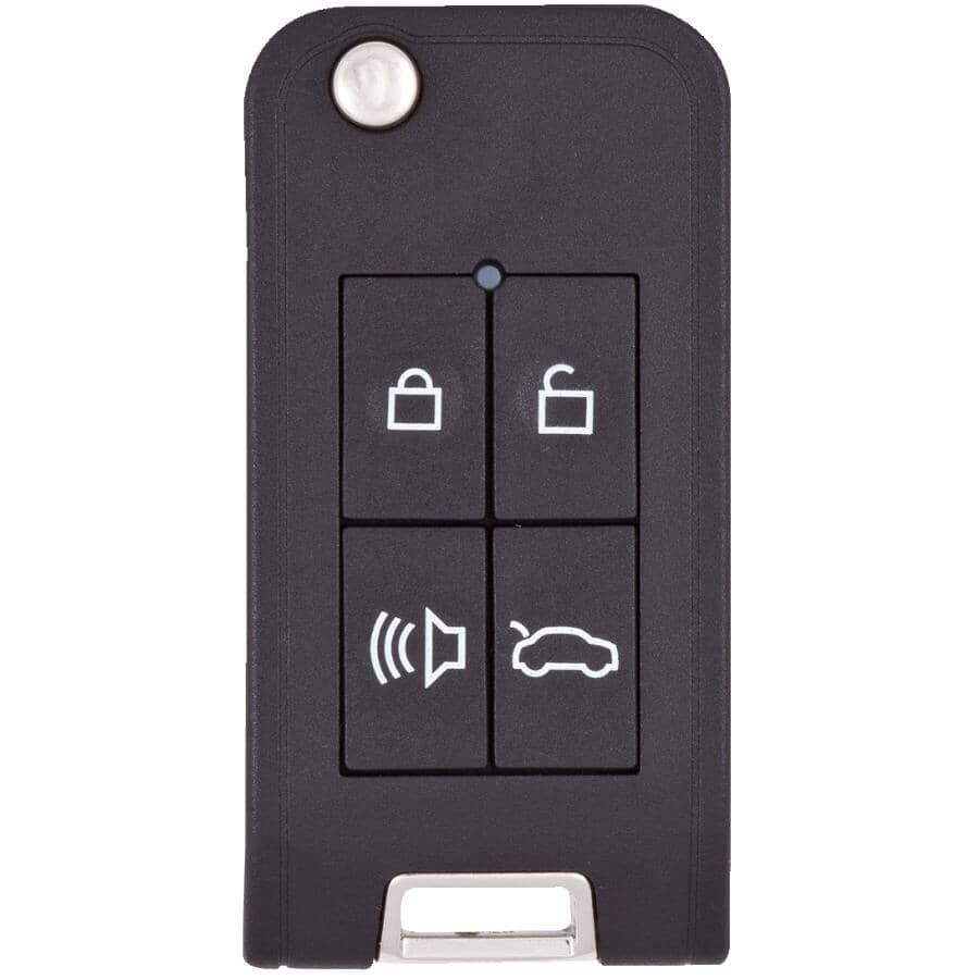 ILCO:Boîtier de clé Flip GTI à 4 boutons, avec transpondeur
