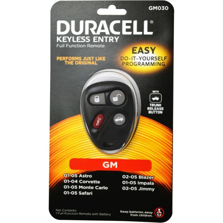 DURACELL:4 Button GMC Keyless Fob