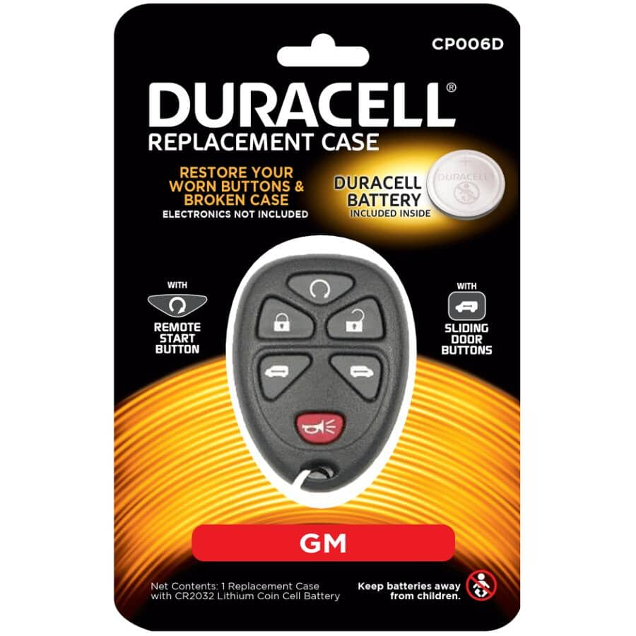 DURACELL:6 Button GM Fob Case - with Battery