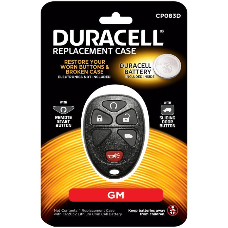 DURACELL:5 Button GM Fob Case - with Battery