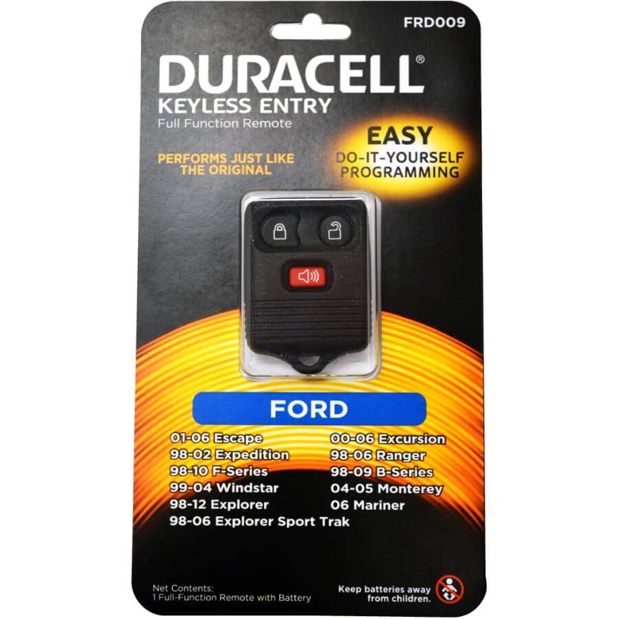 DURACELL:3 Button Ford Keyless Fob