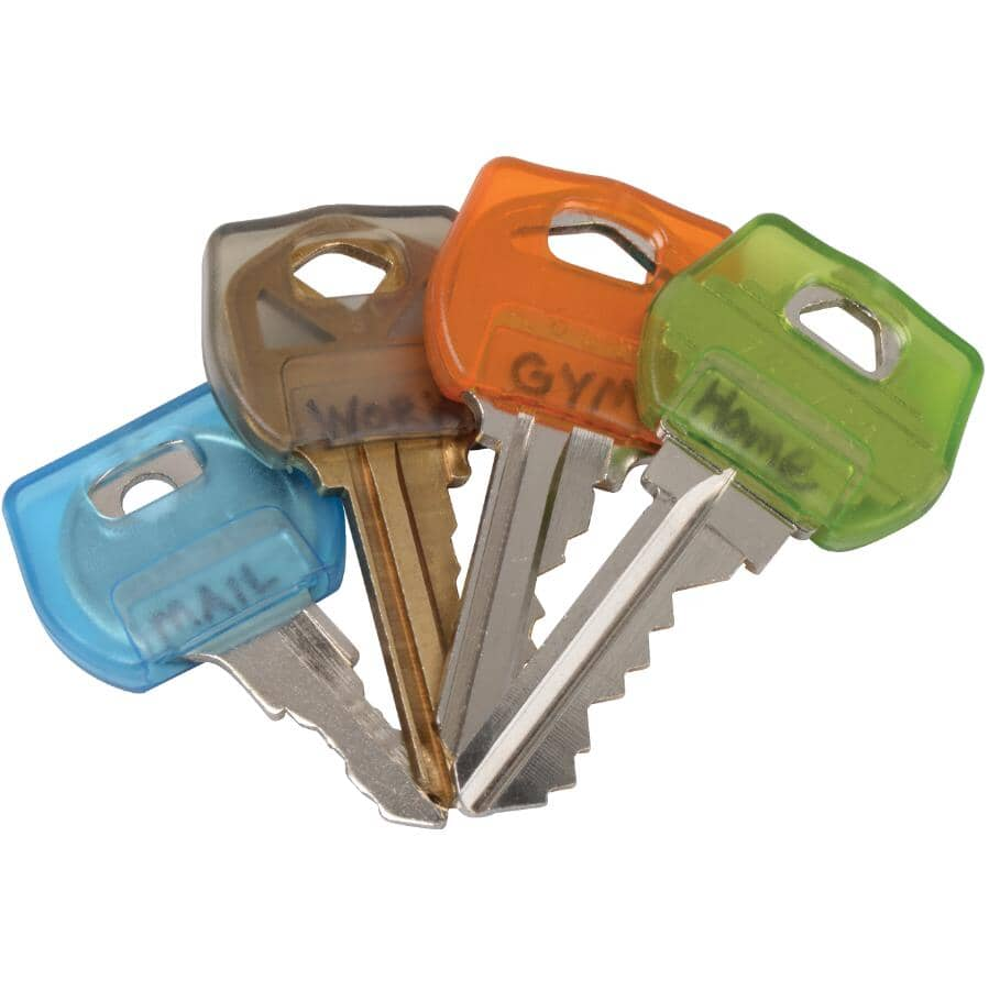 NITE IZE:4 Pack Assorted Colours Key Cover Identifiers