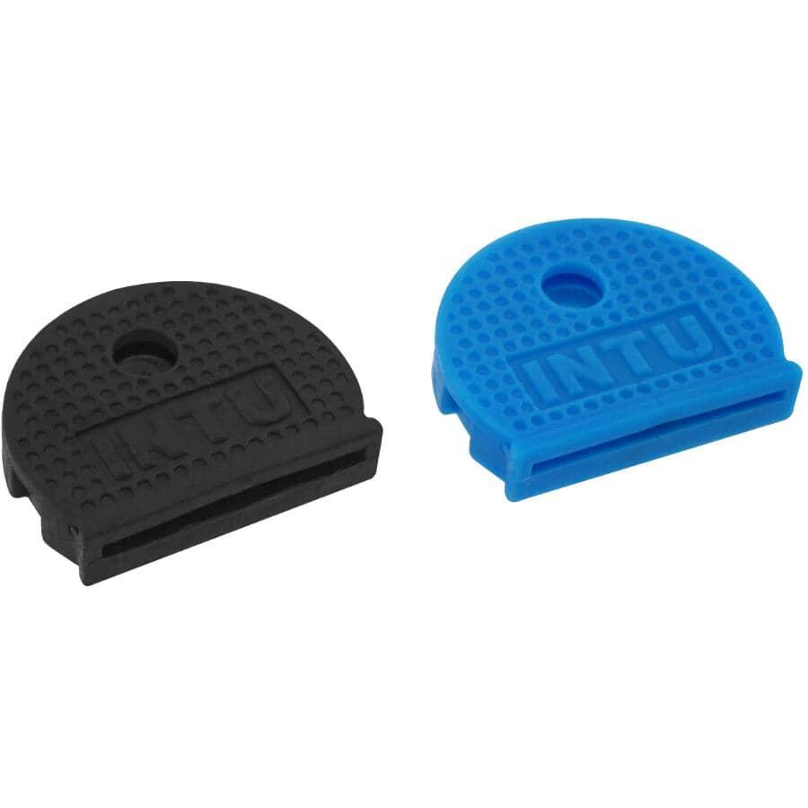 THE MAGNET SOURCE:2 Pack Magnetic Key Cap Identifiers, Blue & Black