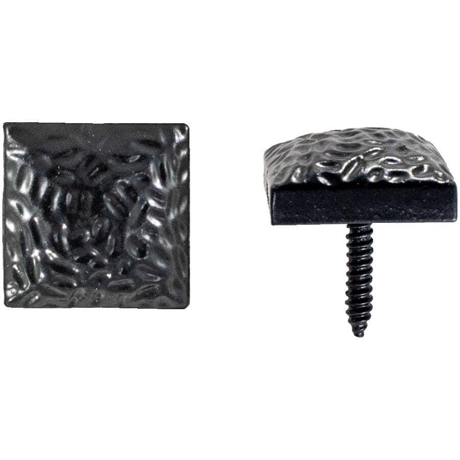 "GATEMATE:10 Pack 1-1/8"" Black Antique Door Studs"
