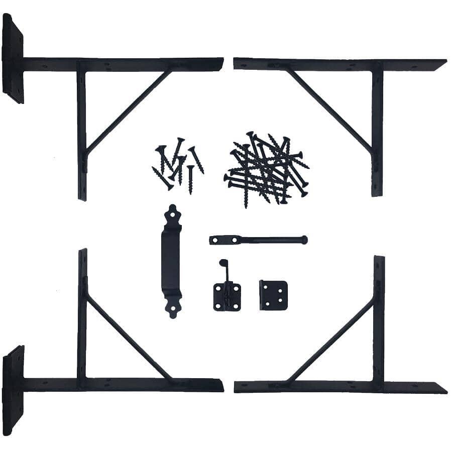 NUVO IRON:Heavy Duty Gate Corner Frame Brace Kit - with Hardware, 8 Pieces