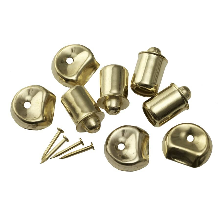 BUILDER'S HARDWARE:Bullet Catches - Brass Plated, 4 Pack