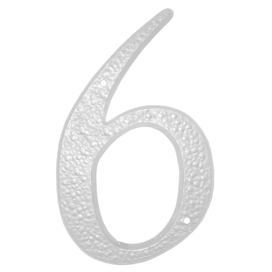 """KLASSEN:5"""" White '6' House Number"""