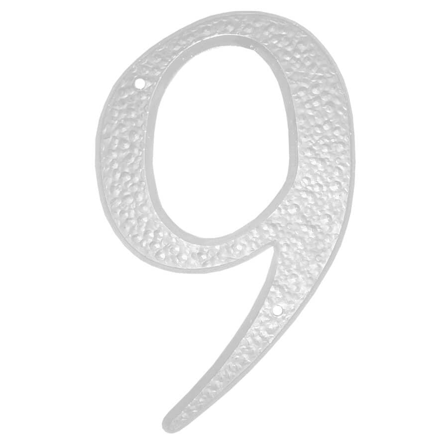 """KLASSEN:5"""" White '9' House Number"""