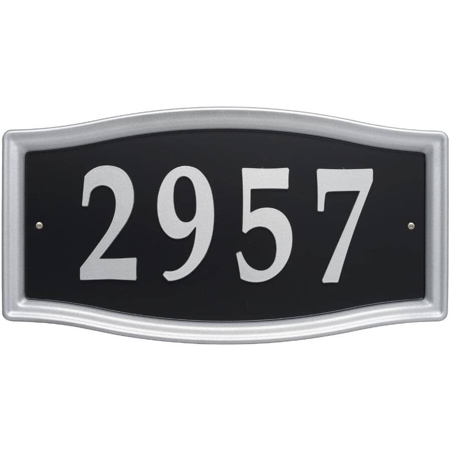 "WHITEHALL PRODUCTS:27 Piece 15-1/2"" Nickel Address Plaque"