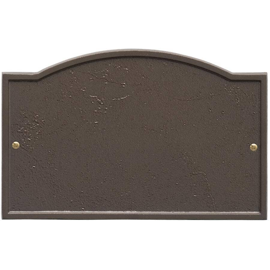 """WHITEHALL PRODUCTS:12"""" Dark Bronze Arch Address Plaque"""