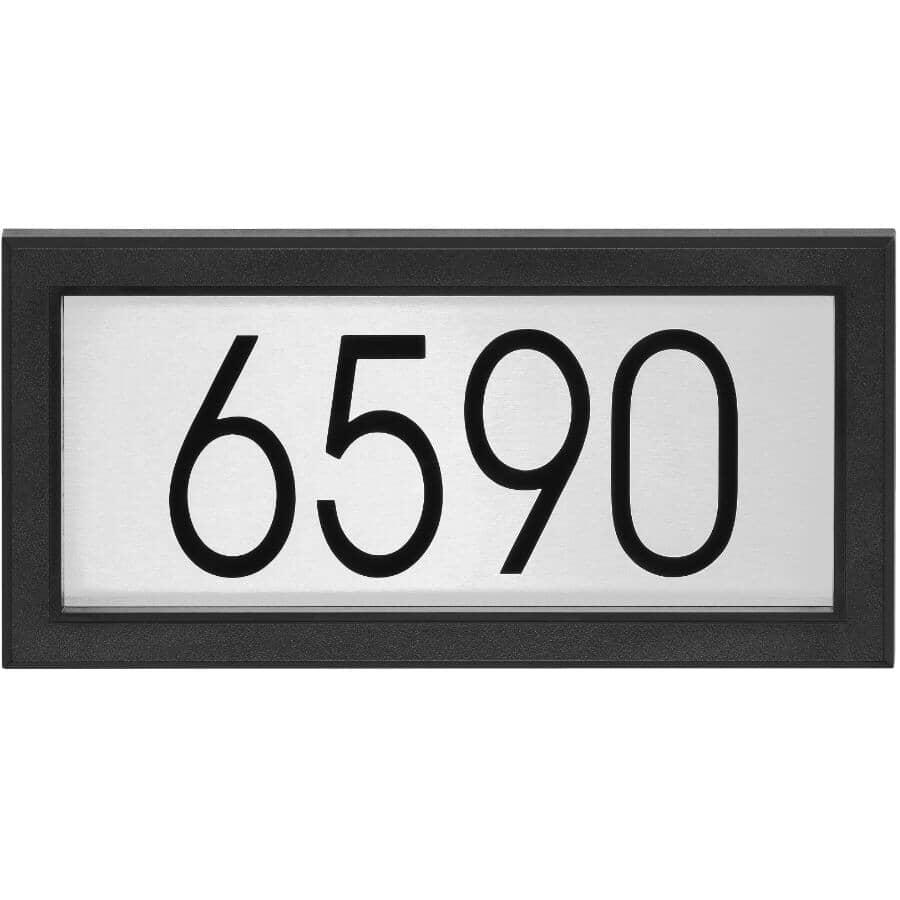 "PRO-DF:31 Piece 14"" Stainless Steel Black Contemporary Rectangular Address Plaque"