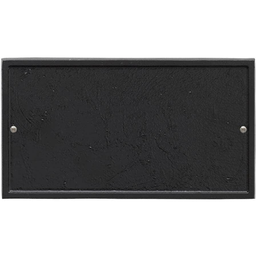 "WHITEHALL PRODUCTS:12"" Black Rectangular Address Plaque"