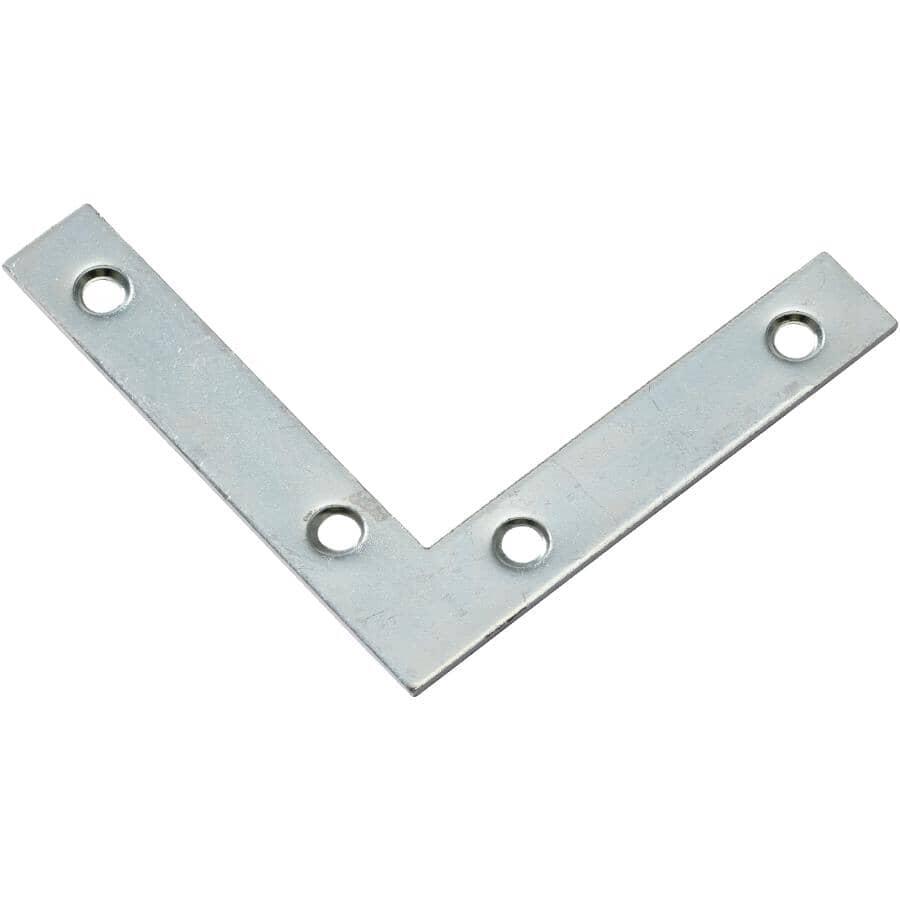 "BUILDER'S HARDWARE:3-1/2"" Flat Corner Plate - Zinc"