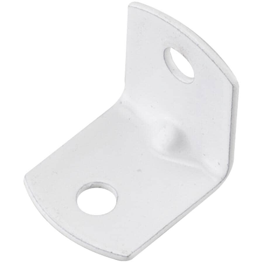 "ONWARD:3/4"" Corner Braces - White, 20 Pack"