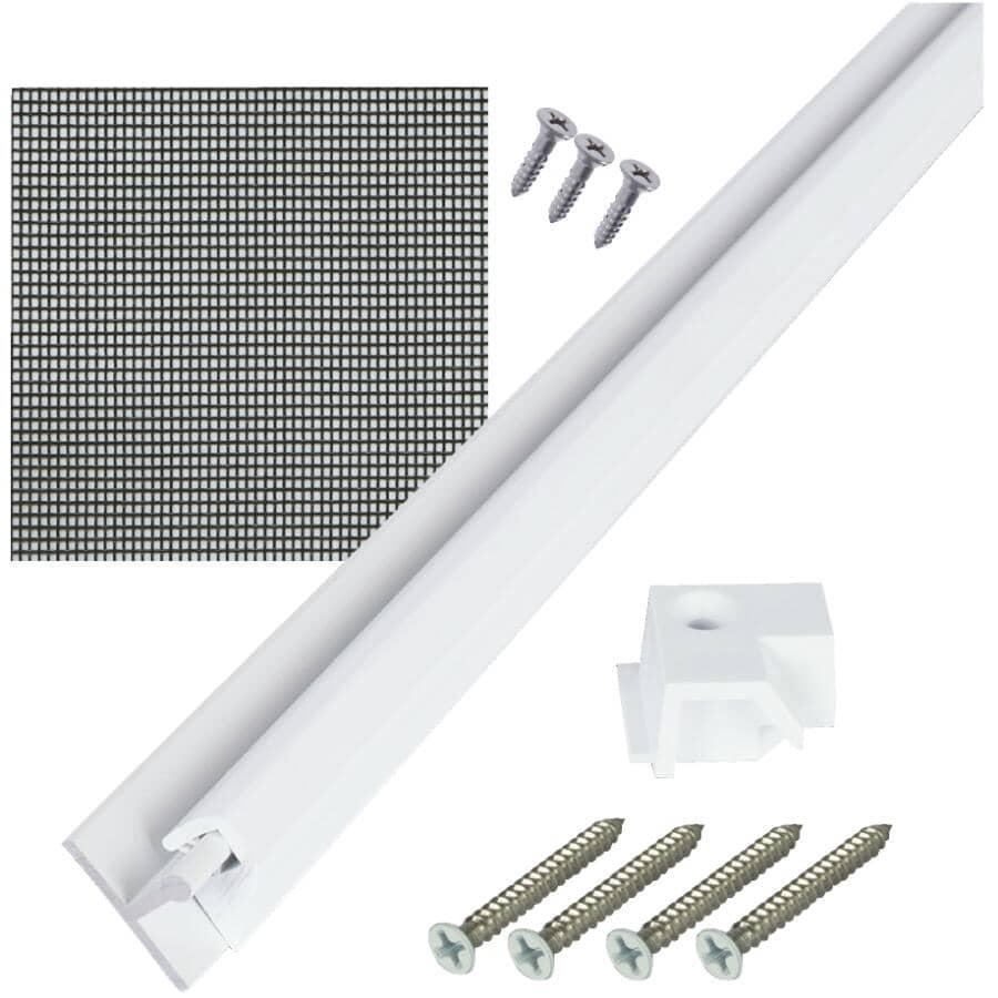 SCREENEZE:4' X 8' White SnapTrack Porch Screen Kit