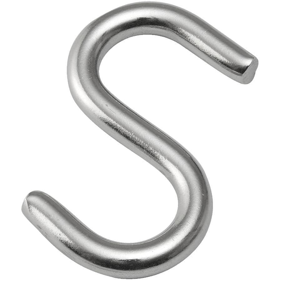 """BUILDER'S HARDWARE:2-1/2"""" Stainless Steel Heavy Duty Open S Hook"""