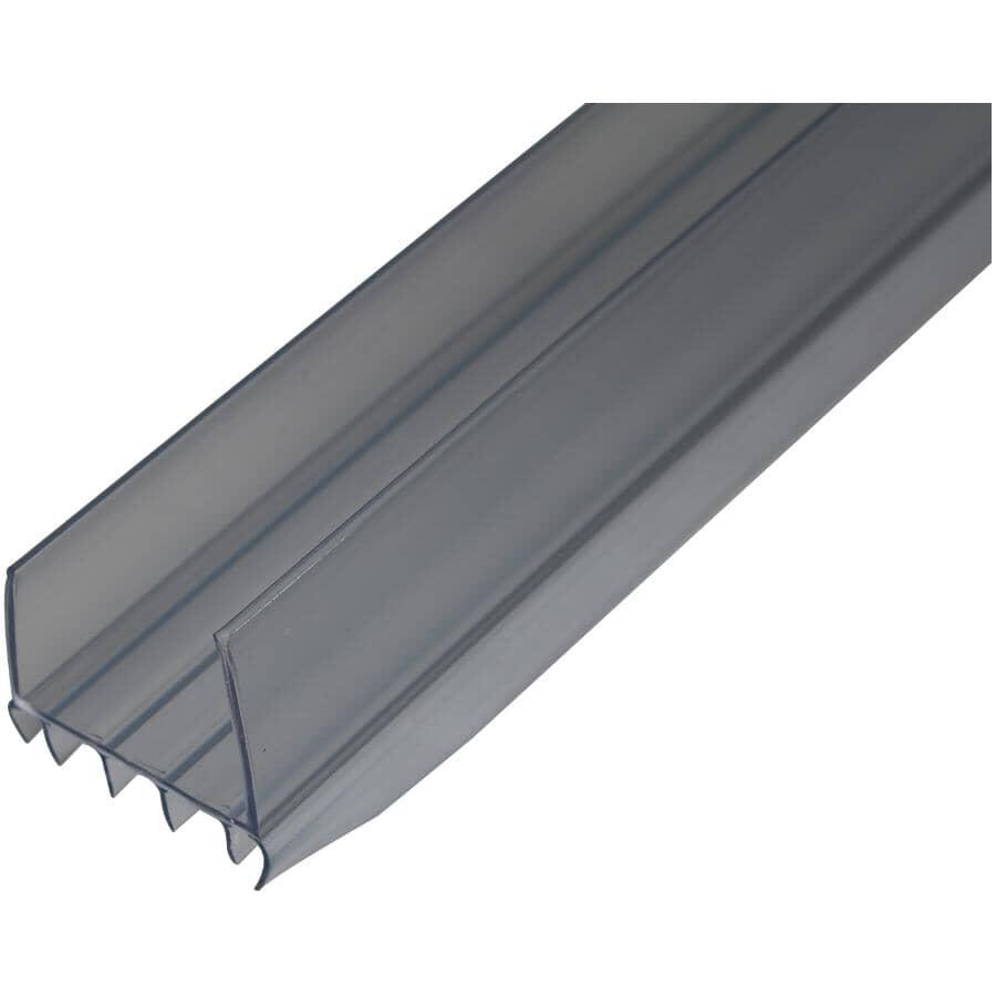 CLIMALOC:3' Clear U-Shape Slide On Door Sweep