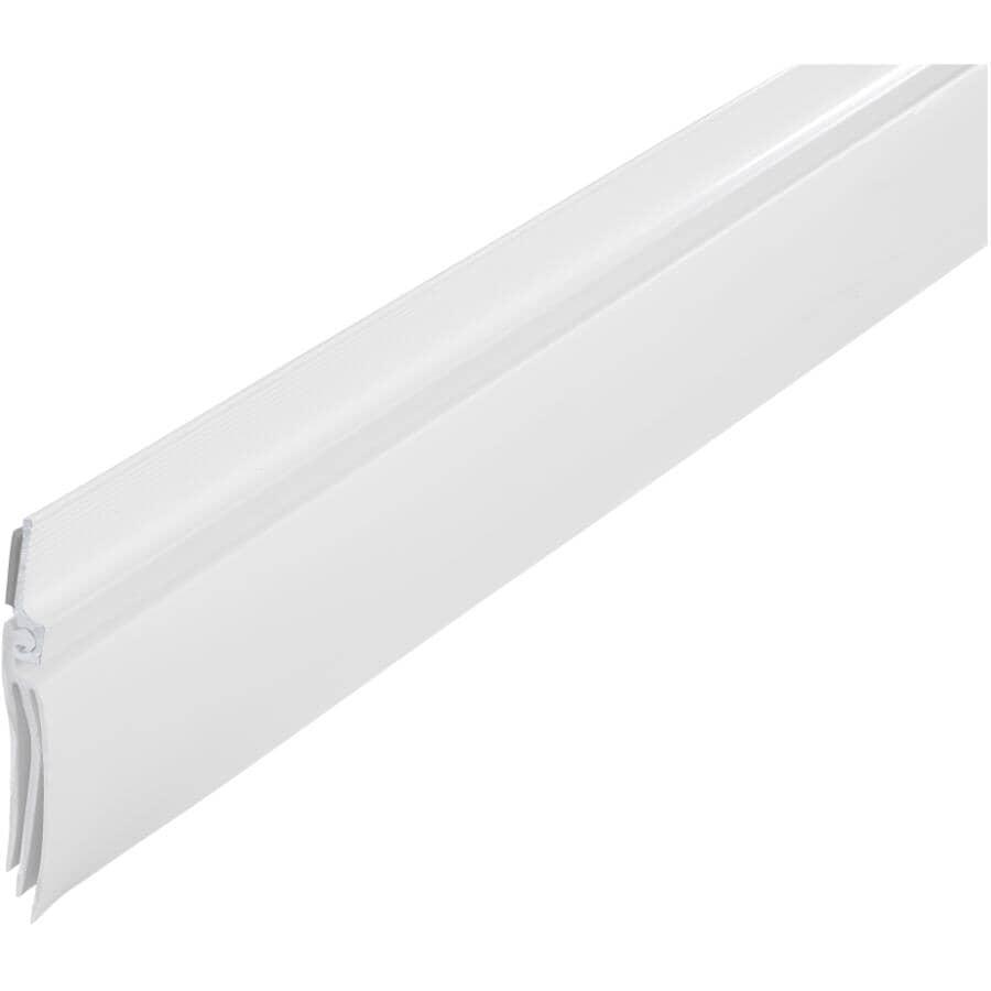CLIMALOC:3' White Aluminum/Vinyl Door Sweep