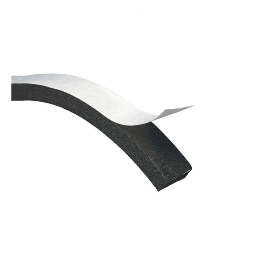 CLIMALOC:Ruban coupe-froid noir en mousse de 3/16 po x 3/8 po x 17 pi