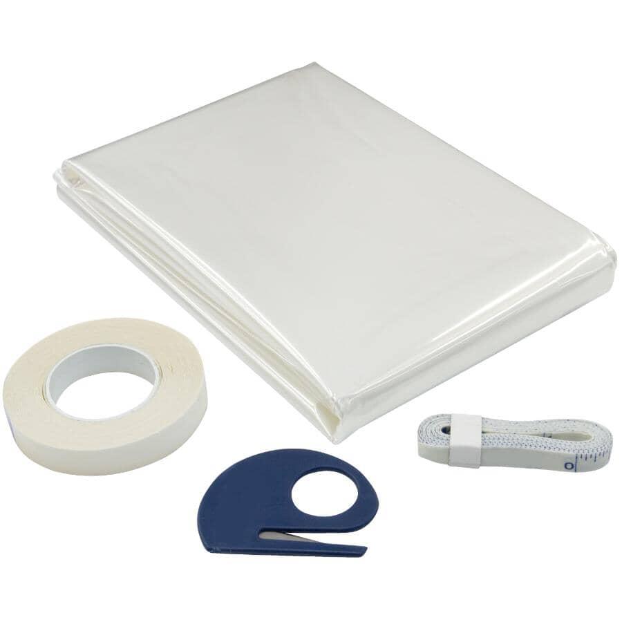 "CLIMALOC PLUS:Insulation Window Kit - with Accessories, 64"" x 42"""