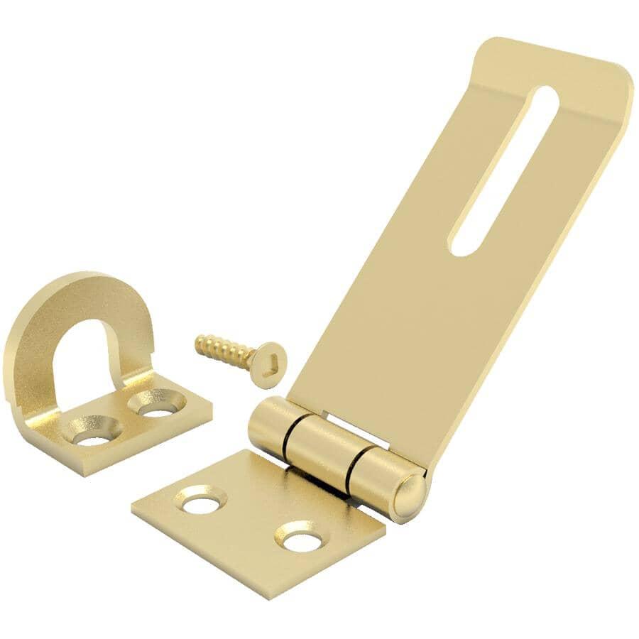 """BUILDER'S HARDWARE:1-3/4"""" Brass Safety Hinge Hasp"""