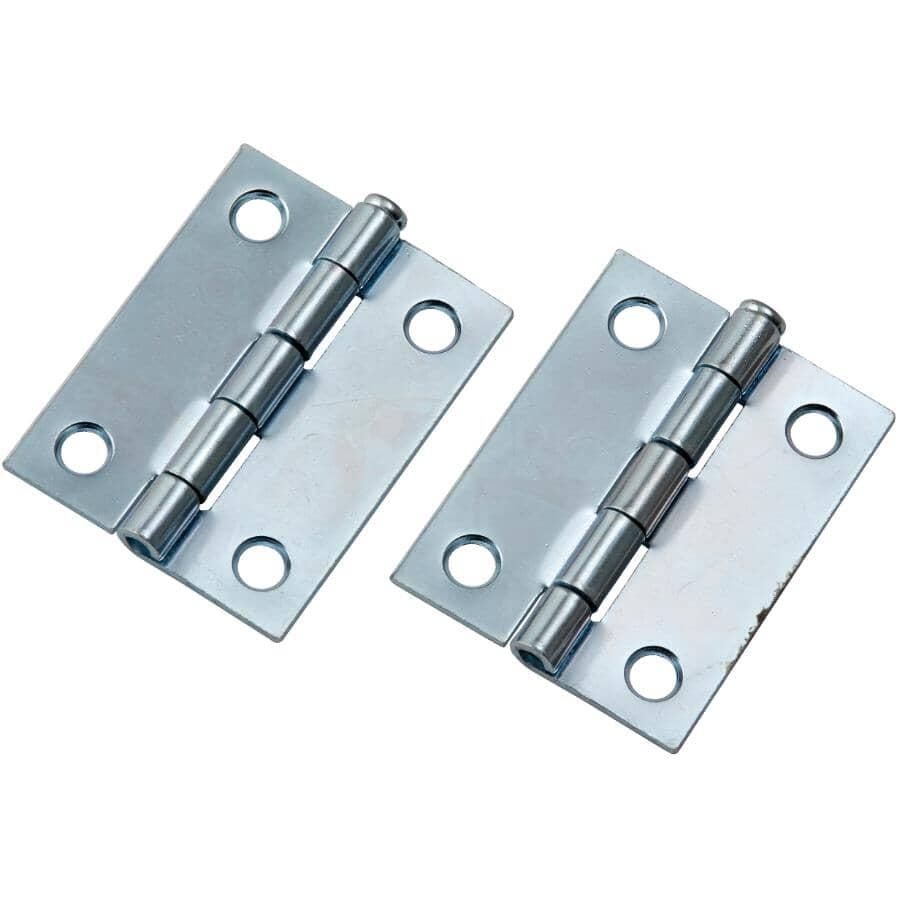 "BUILDER'S HARDWARE:2 Pack 2"" Zinc Loose Pin Narrow Hinges"