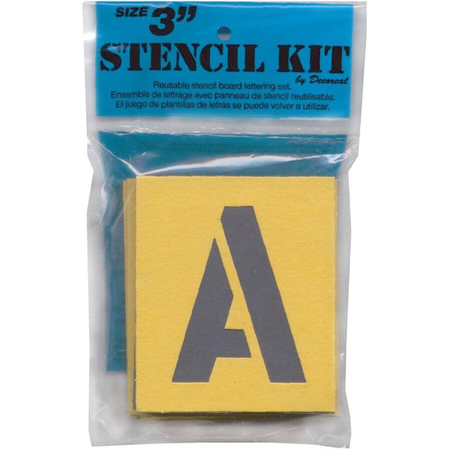 "KLASSEN:3"" Letters Plus Numbers Stencil Kit"