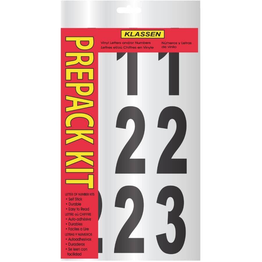 "KLASSEN:3"" Black and White Numbers Kit"