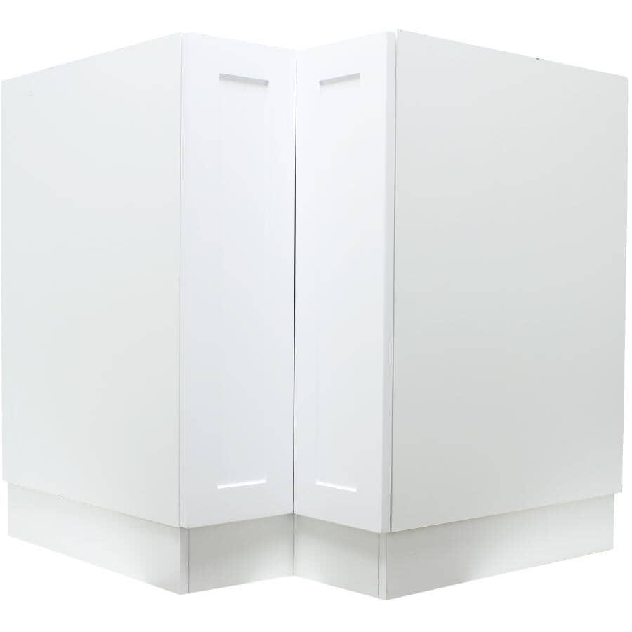 "CABINETSMITH:Huntsville Right-Hand Door Assembled Base Corner Cabinet - White, 33"""