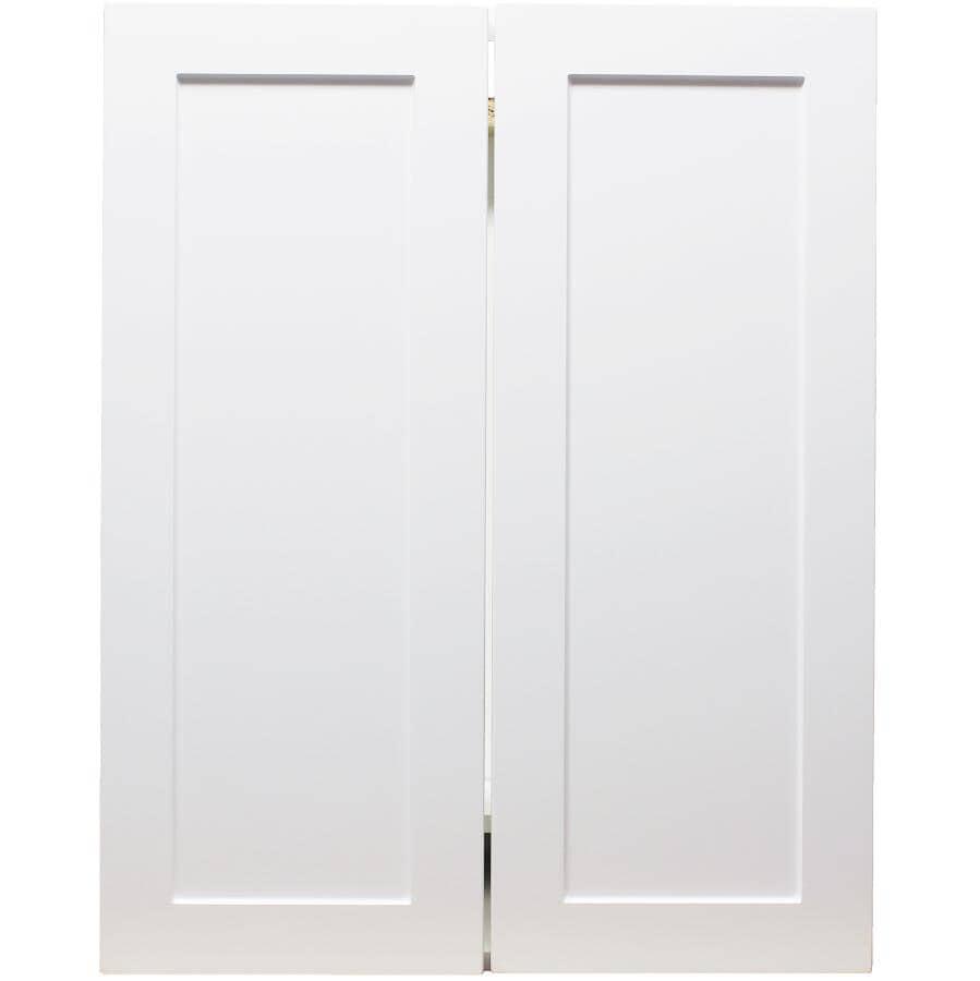 "CABINETSMITH:Huntsville Assembled Base Cabinet - White, 24"", 2 Doors"