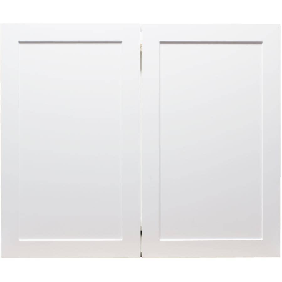 "CABINETSMITH:Huntsville Assembled Base Cabinet - White, 36"", 2 Doors"