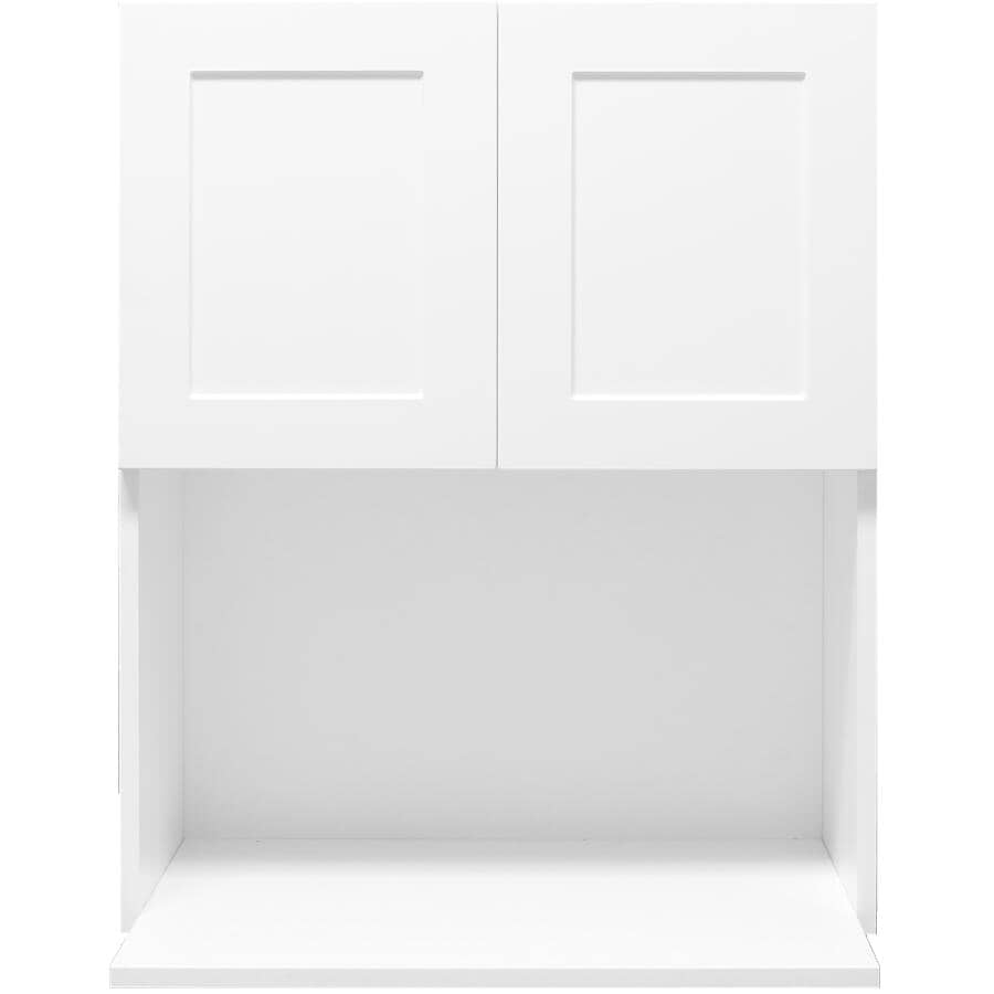 "CABINETSMITH:Huntsville Assembled Upper Cabinet - White, 24"" x 30"", 2 Doors"