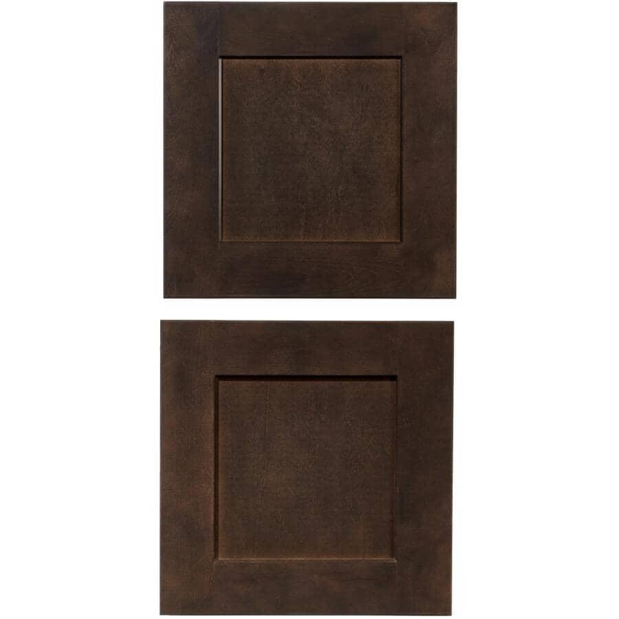 CUTLER KITCHEN & BATH:Porte d'armoire-pont Midnight, 15 po x 15 po, Paquet de 2